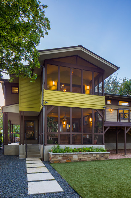 Mid Century Split Level Addition Whole House Remodel Traditional Exterior Austin By Gregory Thomas Architect Akbd Cg S Design Build Houzz Nz,Small House Plans Texas