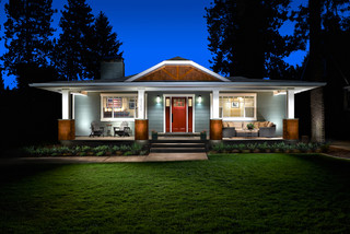 Mid Century to Craftsman Conversion traditional-exterior