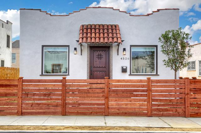 mid city spanish bungalow mediterranean exterior los. Black Bedroom Furniture Sets. Home Design Ideas
