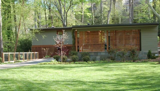 mid century modern renovation midcentury exterior atlanta by