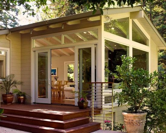 Sunroom door home design ideas pictures remodel and decor - Sunroom off kitchen design ideas ...