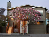 transitional exterior A New Stepped Entry Glows With Style (11 photos)