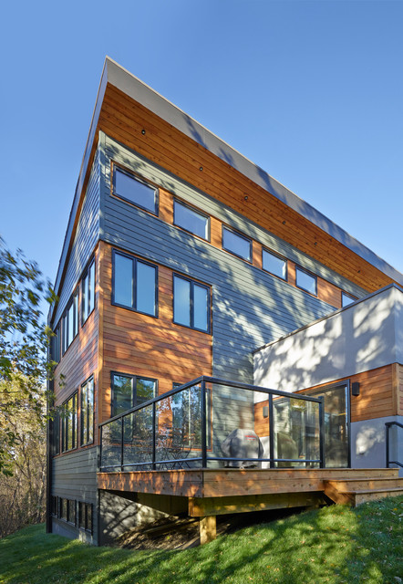 Millcreek House Contemporary Exterior Edmonton By