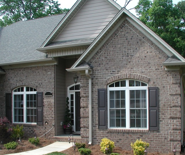 Millstone oversize brick traditional exterior other for Face brick home designs