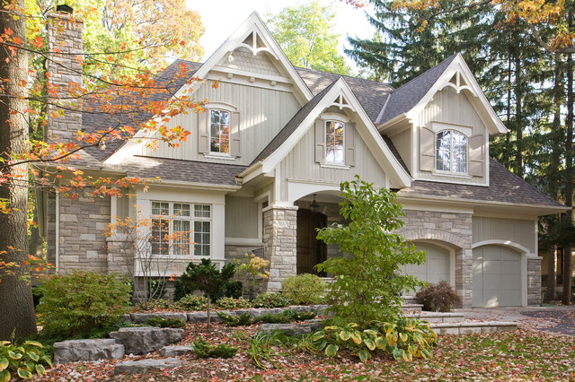 Mineola cottage craftsman exterior toronto by david small