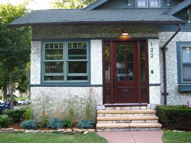Minneapolis Stucco Bungalow Traditional Exterior