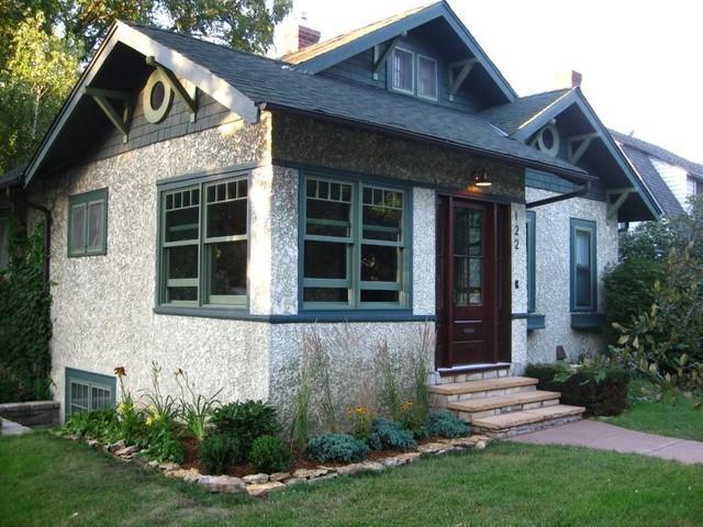 Modern house window design - Minneapolis Stucco Bungalow Traditional Exterior