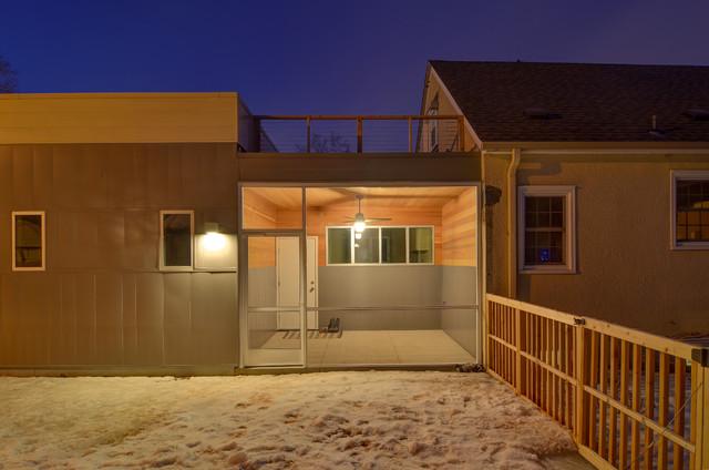 Minneapolis Tudor Receives a Modern Face Lift contemporary-exterior