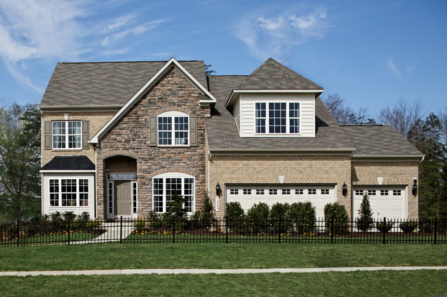 Modena model home traditional exterior dc metro by for Mid atlantic home builders