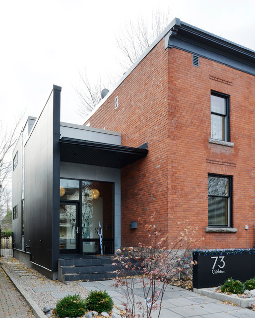 Modern addition to old home contemporary exterior for Exterior by design ottawa