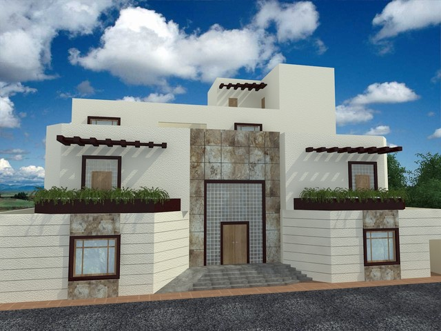 Modern arabic style exterior for Arabic home design