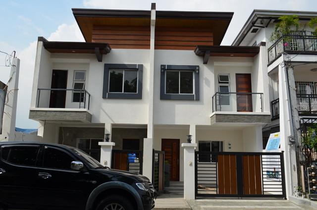 Modern asian duplex for Townhouse exterior design philippines