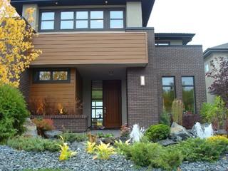Modern Brick Home Modern Exterior Edmonton By Cast