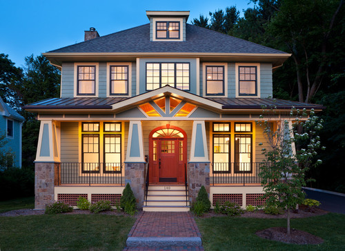 38 american foursquare home photos plus architectural details for Homes plus designers builders inc