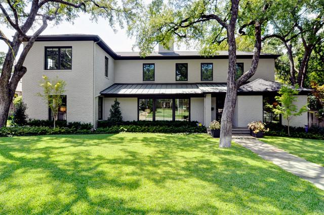 modern bungalow minimalistisch h user dallas von braswell homes inc. Black Bedroom Furniture Sets. Home Design Ideas