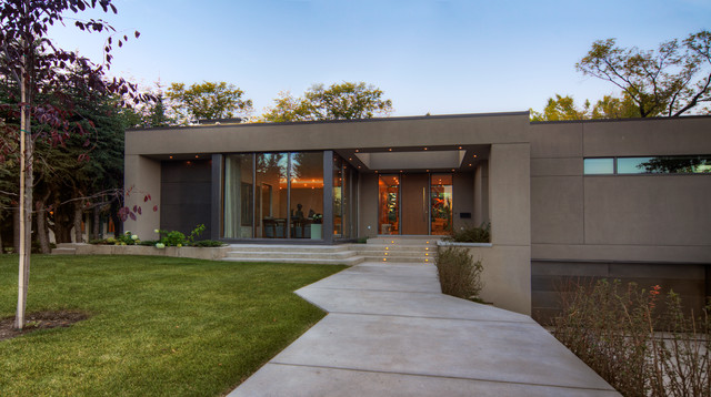 Modern Bungalow Contemporary Exterior Calgary By
