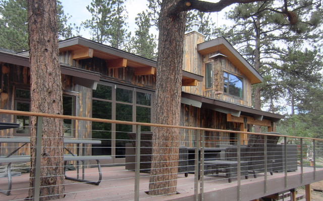 Modern Cabin Renovation Rustic Exterior Denver By