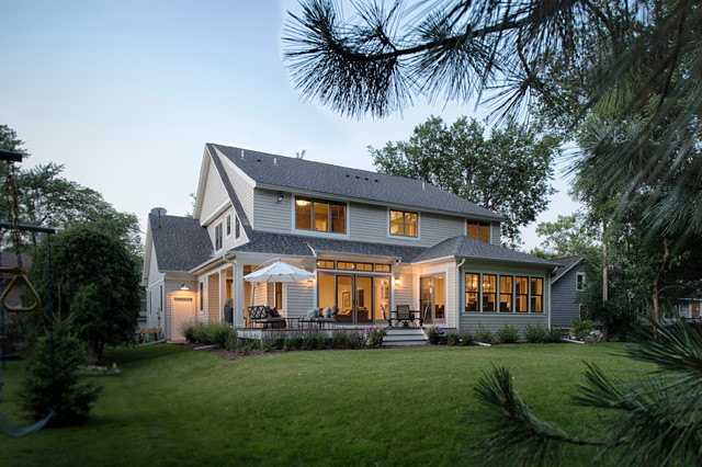 Modern Cape Cod Beach Style Exterior Minneapolis