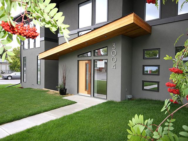 Modern City Duplex Contemporary Exterior Calgary