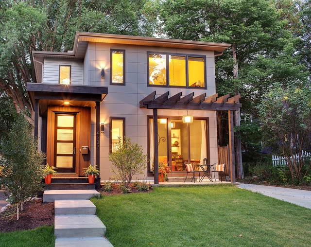 Modern classic contemporary exterior minneapolis for Classic homes llc