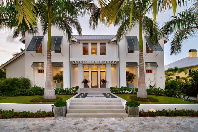 Modern Coastal Home Beach Style Exterior Miami by MHK