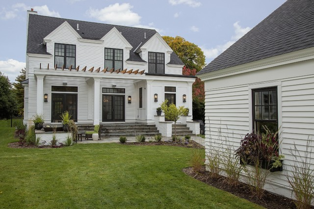 Modern colonial in st paul mn traditional exterior for Colonial contemporary house