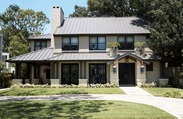 Modern craftsman exterior contemporary exterior for Craftsman style homes dfw