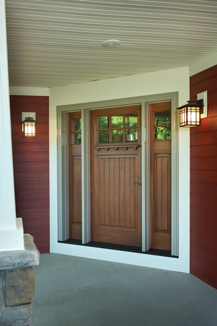 Modern Craftsman Front Porch Traditional Exterior