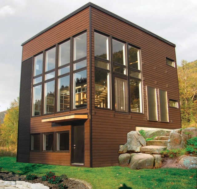 Modern cubic home contemporary exterior other metro for Vinyl siding contemporary homes