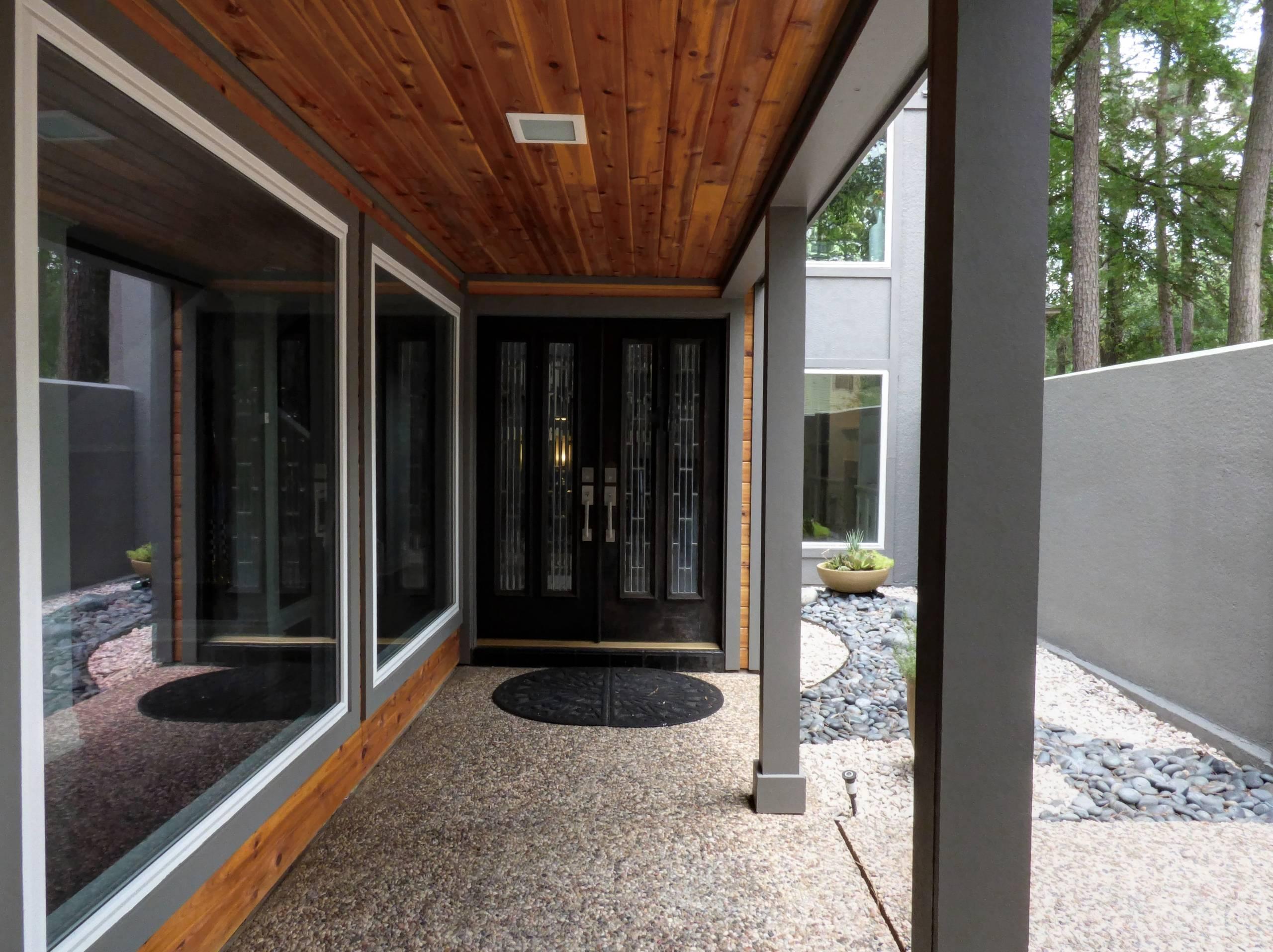Modern Design - Cedar T & G, Stained with James Hardie trim