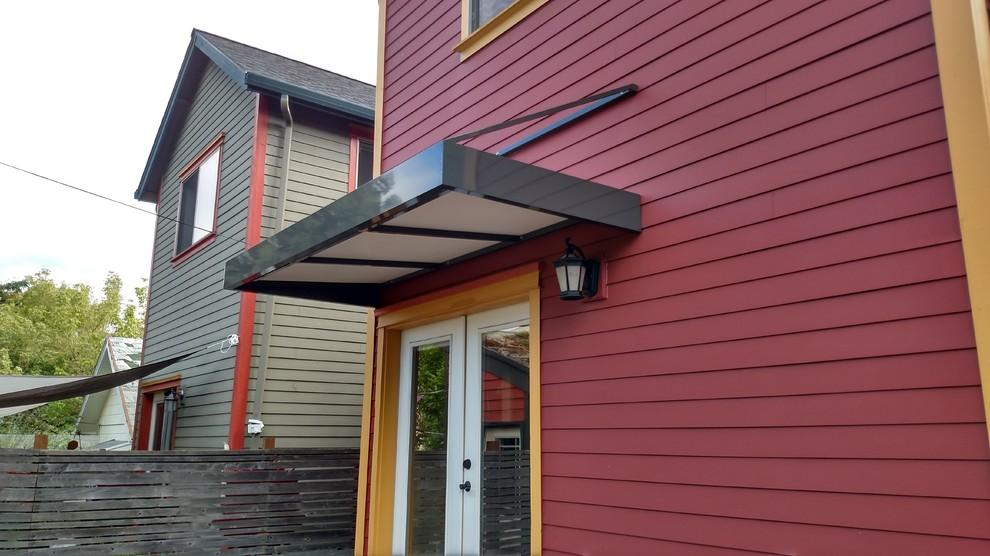 Modern door awning - Transitional - Exterior - Portland ...