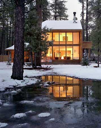 Cabin in Arizona modern exterior