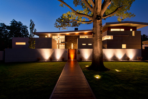 Exterior lighting ideas photo credit modern exterior by tulsa architects building designers crforma