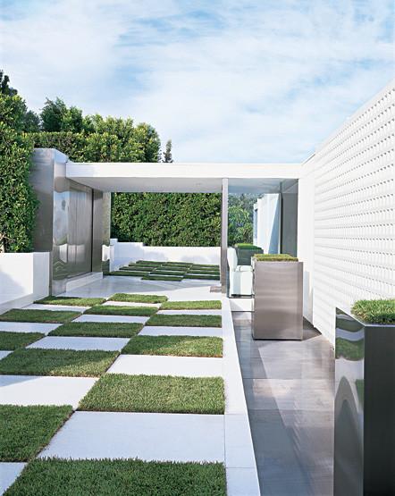 Charles allem bel air modern modern exterior for Contemporary carport design architecture