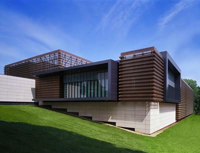 Modern wood table designs - Exterior Copper Rain Screens Modern Exterior Chicago