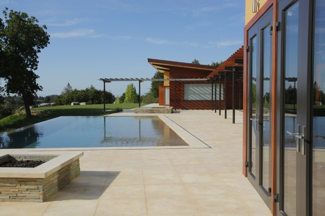 View at Pool House modern-exterior