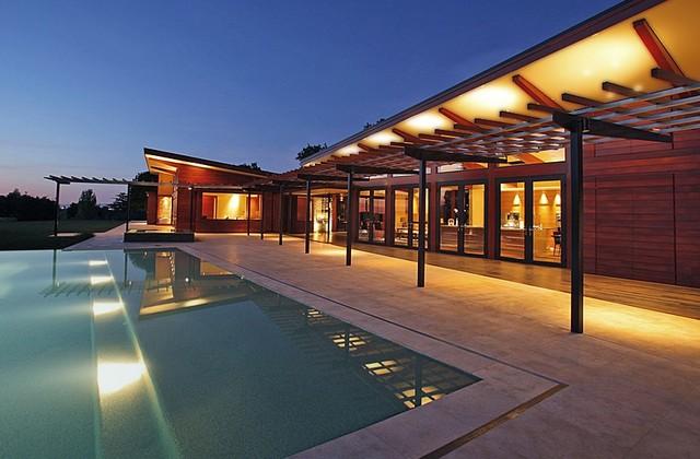 House+Pool modern-exterior