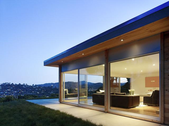 Pool side Retreat modern-exterior