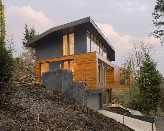 Modern Hillside Walkout House Plans Home Design Photos