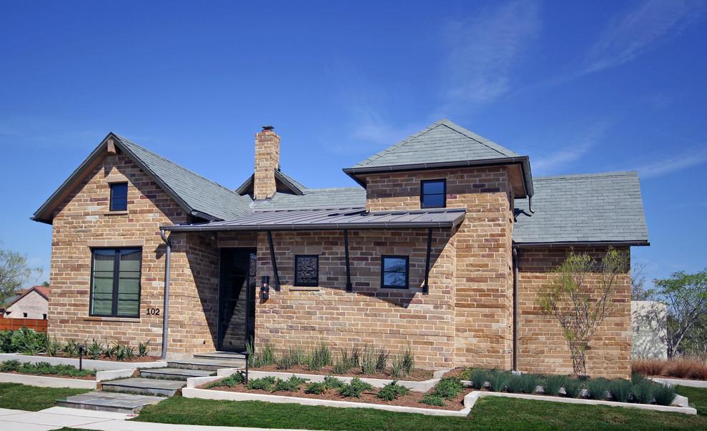 Example of a minimalist exterior home design in Dallas