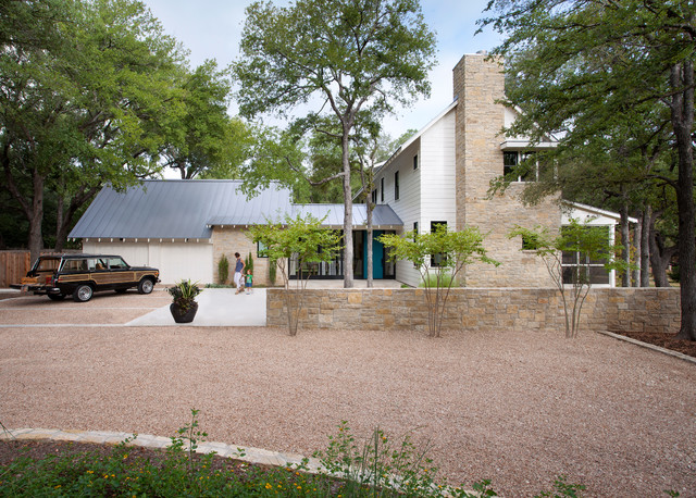 modern farm house farmhouse exterior austin by tim