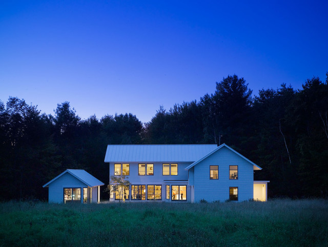 contemporary vermont farm house farmhouse exterior