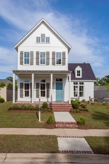 modern farmhouse audubon square farmhouse exterior new orleans by bardwell homes