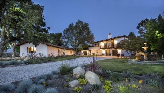 Example of a farmhouse exterior home design in Santa Barbara