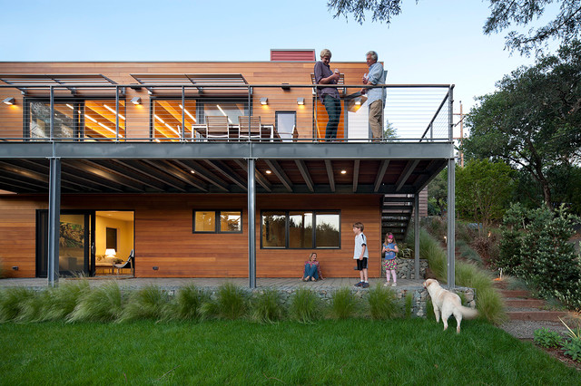 Modern Green Home Mill Valley Ca Contemporary