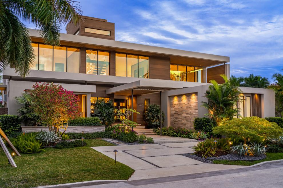 Modern home: Hollywood florida - Contemporary - Exterior ...