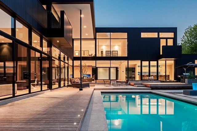 Modern Mansion Exterior modern home in oakville ontario - modern - exterior - toronto -