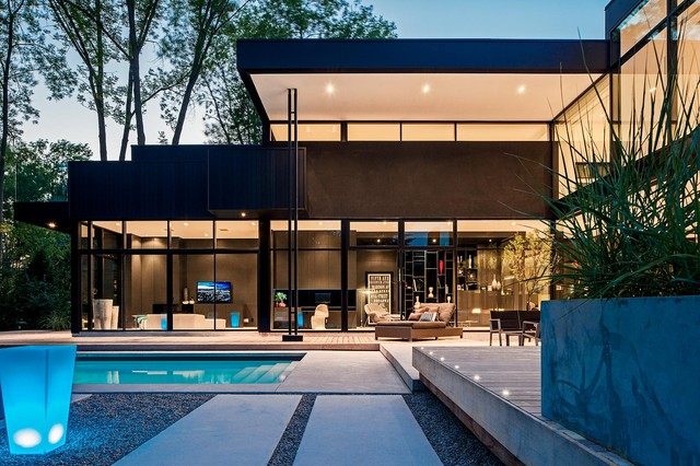 Modern home in oakville ontario modern exterior for Modern house toronto