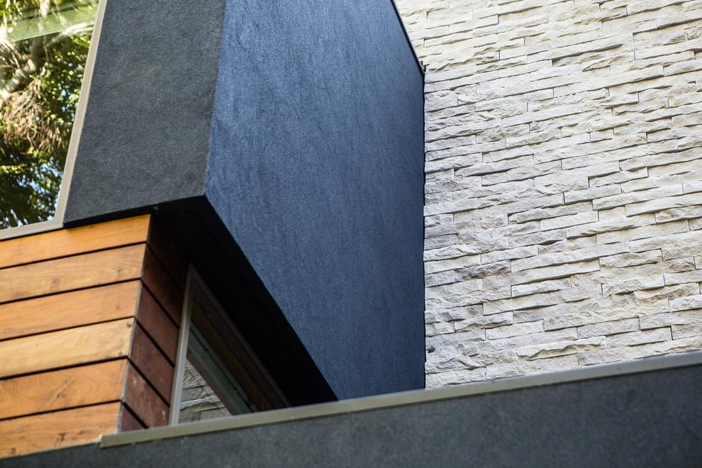 Example of a minimalist exterior home design in Philadelphia