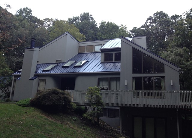 Modern Home With Metal Roof Towson MD Contemporary